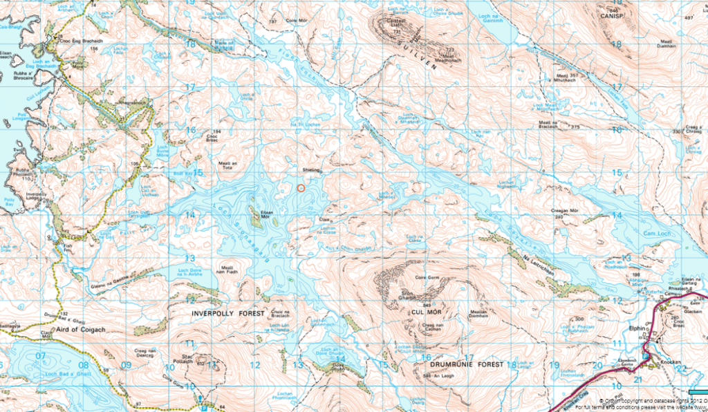 Assynt map